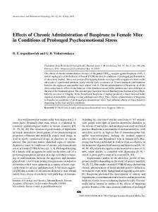 Effects of Chronic Administration of Buspirone to ... - Springer Link