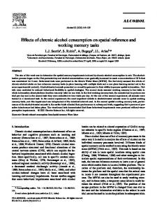 Effects of chronic alcohol consumption on spatial ... - Semantic Scholar