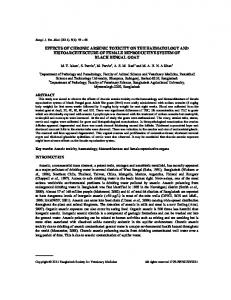 effects of chronic arsenic toxicity on the haematology and ...