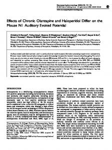 Effects of Chronic Olanzapine and Haloperidol Differ on the ... - Nature