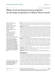 Effects of circuit-based exercise programs on the ... - Semantic Scholar