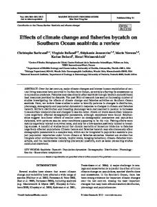 Effects of climate change and fisheries bycatch on Southern Ocean ...