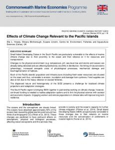 Effects of Climate Change Relevant to the Pacific Islands - ReliefWeb