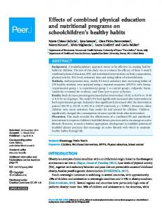 Effects of combined physical education and nutritional programs on ...