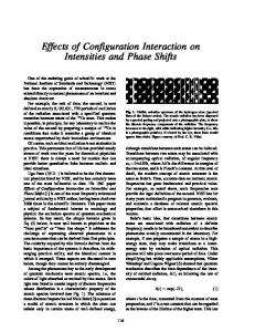 Effects of Configuration Interaction on Intensities and ... - NIST Page