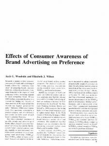 Effects of Consumer Awareness of Brand Advertising ...