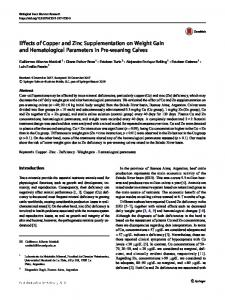 Effects of Copper and Zinc Supplementation on ...