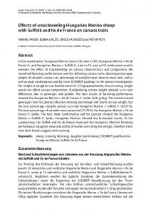 Effects of crossbreeding Hungarian Merino sheep with Suffolk and Ile ...
