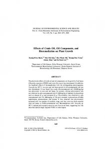 Effects of Crude Oil, Oil Components, and Bioremediation ... - CiteSeerX