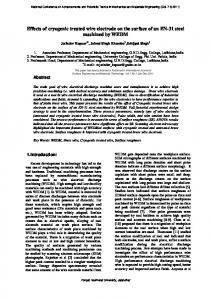 Effects of cryogenic treated wire electrode on the ...