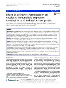 Effects of definitive chemoradiation on circulating ... - Springer Link