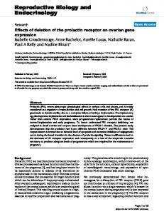Effects of deletion of the prolactin receptor on ovarian gene expression