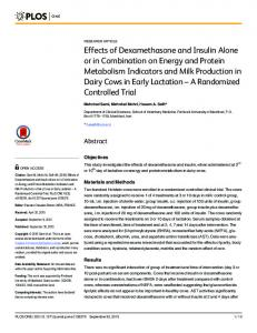 Effects of Dexamethasone and Insulin Alone or in Combination ... - PLOS