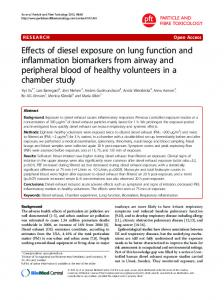 Effects of diesel exposure on lung function and ... - Springer Link
