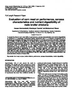 Effects of dietary crude protein and Ca/P content on growth ...