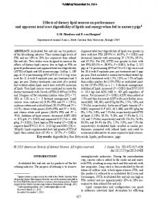 Effects of dietary lipid sources on performance and ... - Semantic Scholar