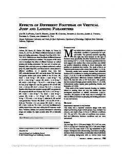 effects of different footwear on vertical jump and ...