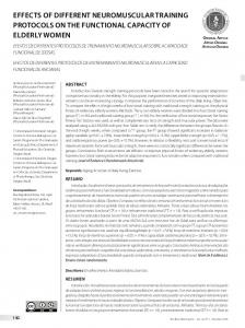 effects of different neuromuscular training protocols on the ... - Scielo.br