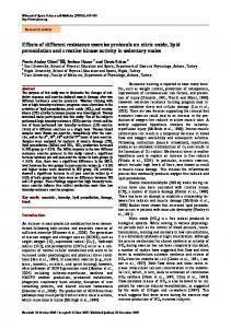 Effects of different resistance exercise protocols on nitric oxide, lipid ...