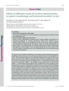 Effects of different routes of nicotine ... - Wiley Online Library