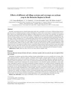 Effects of different soil tillage systems and coverages on ... - INIA