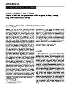 Effects of dioxane on cytochrome P450 enzymes in ... - Springer Link