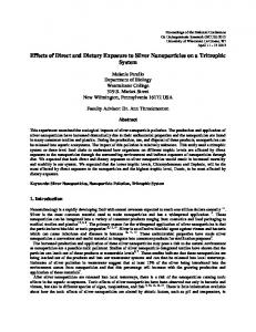 Effects of Direct and Dietary Exposure to Silver ... - NCUR Proceedings