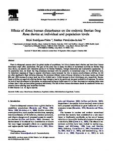 Effects of direct human disturbance on the endemic ... - CiteSeerX
