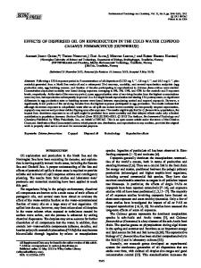 Effects of dispersed oil on reproduction in the ... - Wiley Online Library