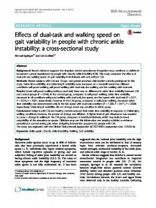 Effects of dual-task and walking speed on gait ... - Semantic Scholar