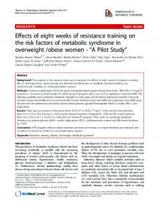 Effects of eight weeks of resistance training on the ... - BioMedSearch