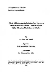 Effects of Electromagnetic Radiation from Microwave ...
