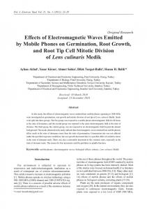 Effects of Electromagnetic Waves Emitted by Mobile Phones on ...
