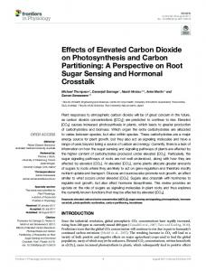 Effects of Elevated Carbon Dioxide on