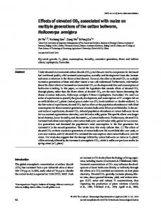 Effects of elevated CO2 associated with maize ... - Wiley Online Library
