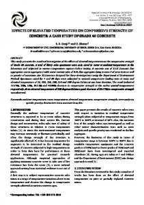 EFFECTS OF ELEVATED TEMPERATURE ON ELEVATED ...