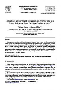 Effects of employment protection on worker and job flows: Evidence ...