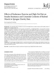 Effects of Endurance Exercise and High-Fat Diet