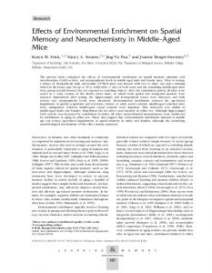 Effects of Environmental Enrichment on Spatial Memory and ...
