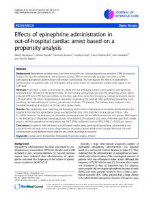 Effects of epinephrine administration in out-of-hospital ... - Springer Link