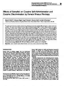 Effects of Estradiol on Cocaine Self-Administration and Cocaine