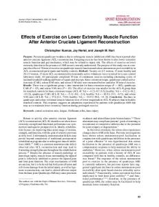 Effects of Exercise on Lower Extremity Muscle ... - Semantic Scholar