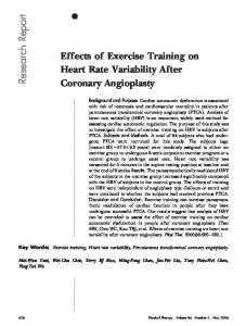 Effects of Exercise Training on Heart Rate ... - National Taiwan University