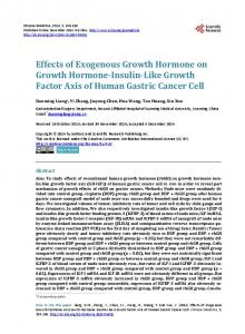 Effects of Exogenous Growth Hormone on Growth