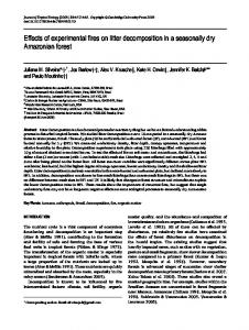 Effects of experimental fires on litter decomposition