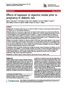 Effects of exposure to cigarette smoke prior to ... - Springer Link