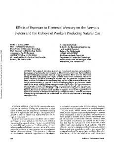 Effects of Exposure to Elemental Mercury on the ...