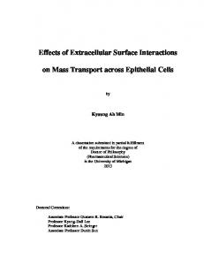 Effects of Extracellular Surface Interactions on Mass ... - Deep Blue