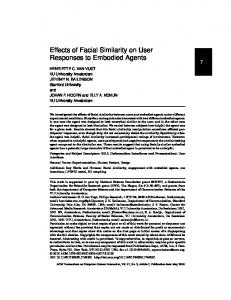 Effects of facial similarity on user responses to embodied agents