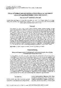Effects of fertilizer-induced reduction of invertebrates on reproductive ...
